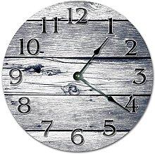 NVBFH43545 Grey Damaged Woodboards Wooden Clocks