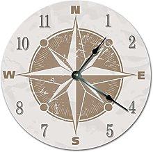 NVBFH43545 Vintage Nautical Compass Rose Wooden