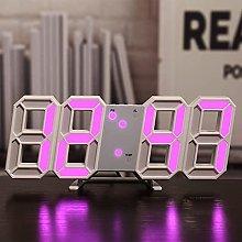 nvbmcxern 3D LED Digital Alarm Clock Glowing Night