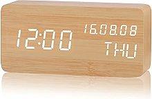 nvbmcxern Modern Wooden Wood Digital LED Desk