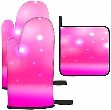 nxnx Colorful Abstract Pink Shiny Oven gloves