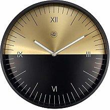 nXt Wall Clock-Diameter 30 cm-Metal Half',