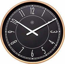 nXt Wall Clock-Diameter 30 cm-Plastic-Black/Matt