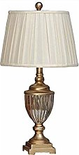 NXYJD Crystal Table Lamp, Crystal Antique Brass