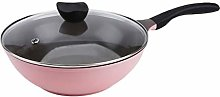 NXYJD Frying Pan with Lid, Nonstick Stone Pan,