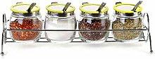 NXYJD Seasoning Tank-Seasoning Bottle Set Glass