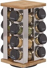 Nyfcc Warner 16-Jar Revolving Spice Rack with Free