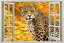 NYJNN 3D Wall Stickers Lots of 3D Tiger Leopard