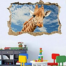 NYJNN 3D Wall Stickers Wildlife Giraffe Wall