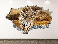 NYJNN Cheetah Wall Poster-Animal Leopard Print 3D