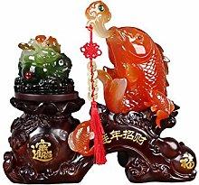 NYKK Art Decorative Golden Toad Statue Decoration