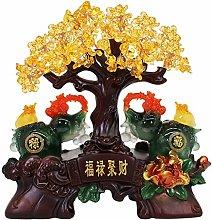NYKK Art Decorative Home Decor Citrine Tree