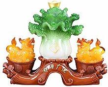 NYKK Art Decorative Pi Xiu jade cabbage decoration