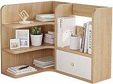 NYKK Bookcases Desktop Bookshelf 3-Tier Countertop