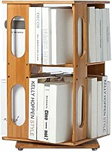 NYKK Bookcases Desktop Bookshelf 360 Degree