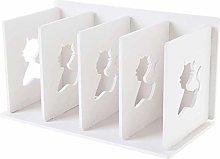 NYKK Bookcases White Desktop Bookshelf Four