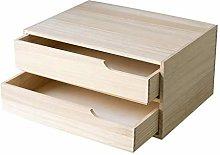 NYKK Bookcases Wood Drawer Type Desktop Bookshelf