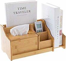 NYKK Bookshelf Bamboo Desktop Storage Box Office