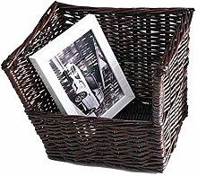 NYKK Bookshelf Rattan Weaving Desktop Bookshelf