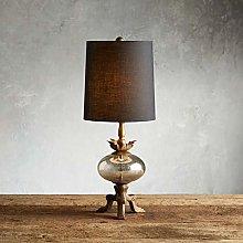 NYKK Crystal salt lamp American Country Retro Wood