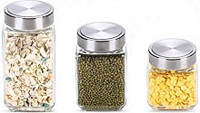NYKK Food Storage Jars Glass Storage Jars with