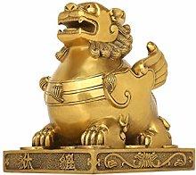 NYKK Home Décor Products Copper Pi Xiu Ornaments