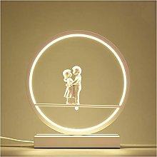 NYKK Multifunctional Desk Lamp Circle Dimmable LED