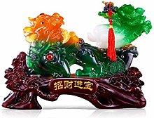 NYKK Ornament Figurine Feng Shui Lucky Pi Xiu
