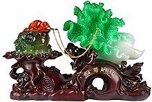 NYKK Ornament Figurine Lucky Golden Toad