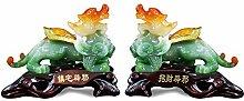 NYKK Ornament Figurine Pi Xiu Ornaments a Pair of