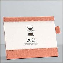 NYKK Small Standing Desk Calendar 2021 Desk