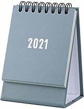 NYKK Small Standing Desk Calendar 2021Mini Desk