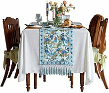 NYKK Table Runner Floral Print Cotton Dining Table