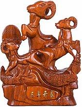 NYKK Tabletop Decoration Chinese Zodiac Sheep Feng