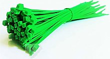 Nylon cable ties, Green 100pcs Cable Ties