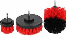 Nylon Red Drill Brush Industrial Cleaning Tool