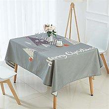 NYLWSL Christmas Rectangle Tablecloth,Water Proof