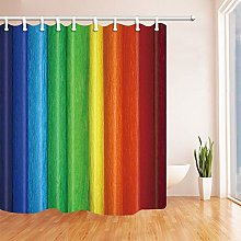 Nyngei Abstract Wood Shower Curtains for Bath