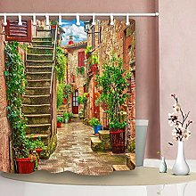 Nyngei Alley in Town Tuscany Shower Curtain