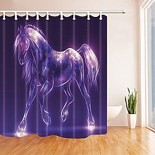 Nyngei Beautiful Horse Shower Curtains Polyester