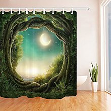 Nyngei Fairy Tale Greenery Trees Shower Curtains