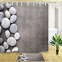 Nyngei Natural Round Pebbles Shower Curtain