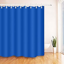 Nyngei Royal Blue Shower Curtain Waterproof Fabric