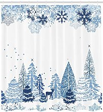 Nyngei Winter Shower Curtain Winter Scene with