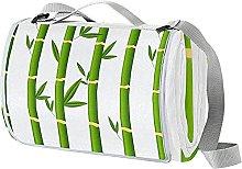 NYZXH Bamboo Waterproof Outdoor Picnic Blanket