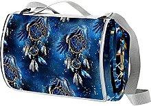 NYZXH Blue Dreamcatcher Waterproof Outdoor Picnic
