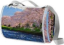 NYZXH Cherry Waterproof Outdoor Picnic Blanket
