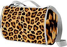 NYZXH Leopard Waterproof Outdoor Picnic Blanket