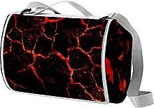 NYZXH Magma Lava Waterproof Outdoor Picnic Blanket