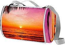 NYZXH Palm Sunset Waterproof Outdoor Picnic